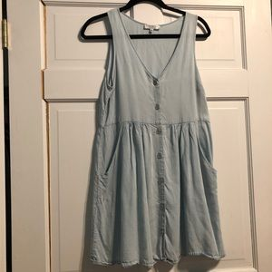 Button Down Light Blue Dress